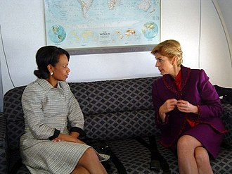Carolina Barco - Carolina Barco (right) with Condoleezza Rice