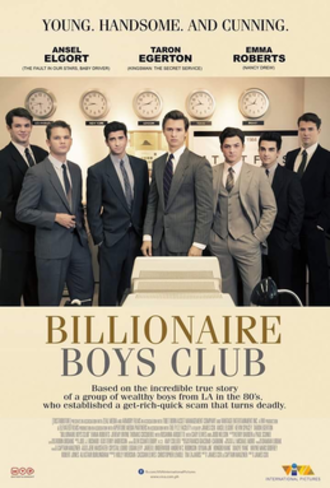 Billionaire Boys Club (2018 film) - Theatrical release poster