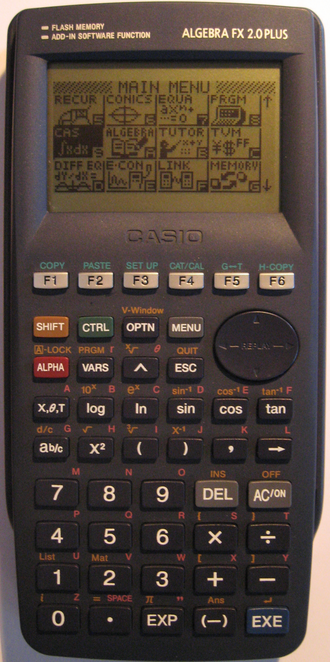 Casio graphic calculators - A graphic calculator from Casio, the Casio Algebra FX 2.0 Plus