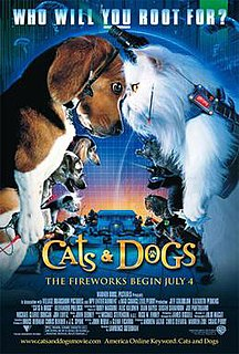 <i>Cats & Dogs</i> 2001 film by Lawrence Guterman