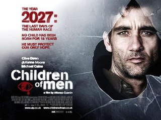<i>Children of Men</i> 2006 dystopian action thriller film directed by Alfonso Cuarón