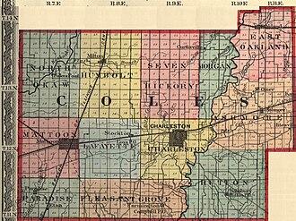 Charleston riot - Coles County, Illinois, 1875.
