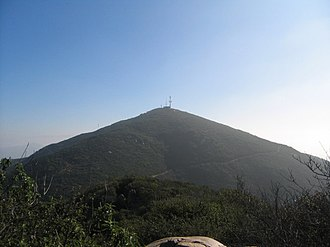Mission Trails Regional Park - A photograph of Cowles Mountain, facing east, taken on the trail to Pyles Peak