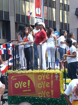 Dominican Americans - The Dominican Day Parade in New York City, a major destination for Dominican emigrants.