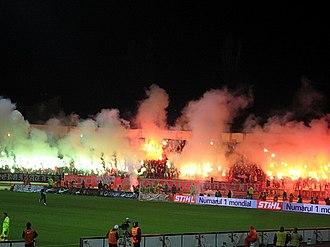 Stadionul Dinamo - Image: Dinamo rapid torte 2