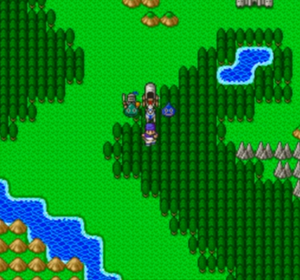 Dragon Quest V - A battle in the Super Famicom version
