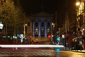 City Hall, Dublin - Dublin City Hall, as viewed from Parliament Street at night