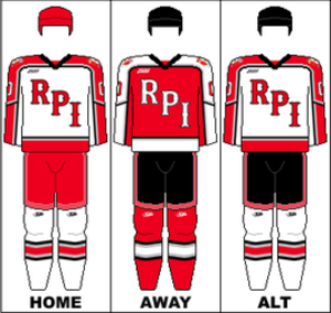 RPI Engineers men's ice hockey - Image: ECAC Uniform RPI