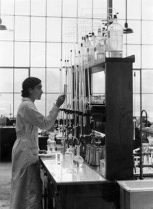 Edith Humphrey - Edith Humphrey in her laboratory.