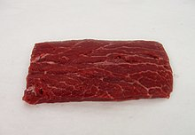 Beef flat iron steak (shoulder top blade)