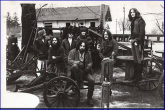 The Flock (band) - Promotional photo (L to R) Rick Canoff, Fred Glickstein, Tom Webb, Jerry Smith (bottom), Ron Karpman (top), Frank Posa and Jerry Goodman