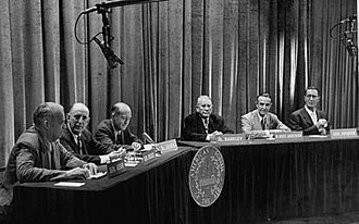 The American Forum of the Air - Theodore Granik and panelists in a July 1952 broadcast.