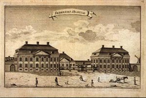 Frederiks Hospital -  The hospital, likely in 1752 or shortly thereafter.