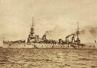 SM U-5 (Austria-Hungary) - Image: French cruiser Leon Gambetta
