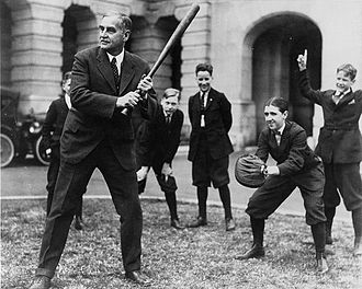 George W. Pepper - Senator Pepper enjoys a game of baseball with the Senate pages in the 1920s.