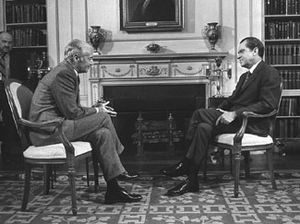 Howard K. Smith - ABC News commentator Howard K. Smith with Richard Nixon in 1971.