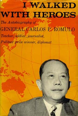 I Walked with Heroes - Book cover for Carlos P. Romulo's I Walked with Heroes.