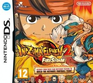 Inazuma Eleven 2 - European cover artwork for Inazuma Eleven 2: Firestorm.