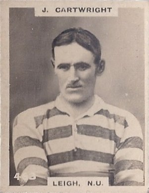 Joe Cartwright (rugby league) - Godfrey Phillips Cigarette card featuring Joe Cartwright