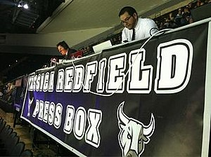 AT&T Center - The Jessica Redfield Press Box.