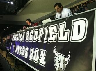AT&T Center - The Jessica Redfield Press Box.