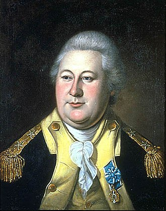 Society of the Cincinnati - General Henry Knox, Chief of Artillery under George Washington with his Society of Cincinnati medal