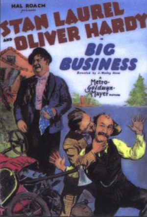 Big Business (1929 film) - Theatrical release poster