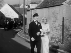 L'Atalante - Jean Dasté and Dita Parlo in the wedding scene, which was the first scene shot.