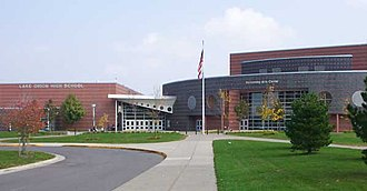 Lake Orion High School - Image: L Ofront