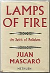The cover for Juan Mascaró's Lamps of Fire.