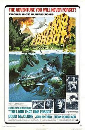 The Land That Time Forgot (1975 film) - film poster by Tom Chantrell