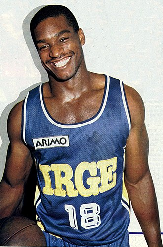 Lorenzo Charles - Charles in 1987 wearing a Irge Desio jersey