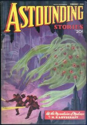 At the Mountains of Madness - Cover of Astounding Stories, February 1936