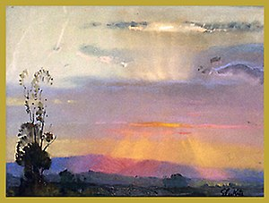 Theodore Lukits - September Sunset, pastel, California Art Club