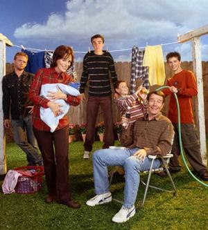 Characters of Malcolm in the Middle - The cast of Malcolm in the Middle as of season 5, (from behind, left to right): Christopher Kennedy Masterson as Francis, Frankie Muniz as Malcolm, Erik Per Sullivan as Dewey, and Justin Berfield as Reese. (In front, left to right) Jane Kaczmarek as Lois and Bryan Cranston as Hal.