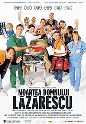 The Death of Mr. Lazarescu - The Romanian poster emphasizes the comedy side