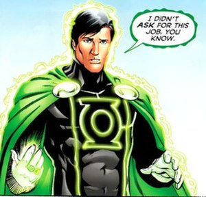 Lar Gand - Mon-El in his Green Lantern costume