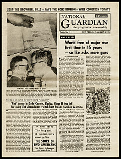 <i>National Guardian</i> US-American newspaper (New York City, 1948-1992)