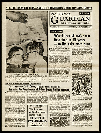 Cedric Belfrage - The National Guardian was established by Belfrage, James Aronson, and John T. McManus in 1948 in conjunction with the Henry Wallace for President campaign.
