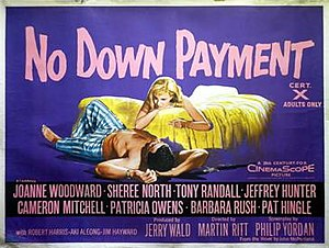 No Down Payment - Theatrical release poster