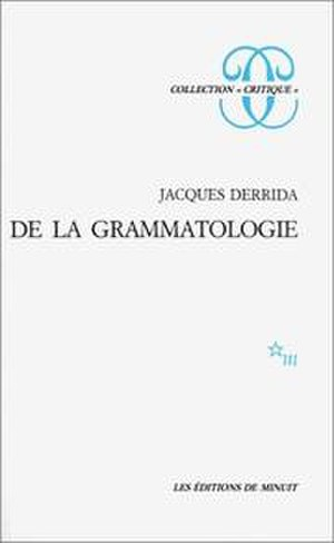 Of Grammatology - Cover of the French edition