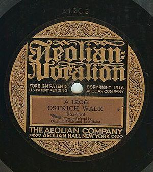Ostrich Walk - 1917 Aeolian Vocalion release as 1206.