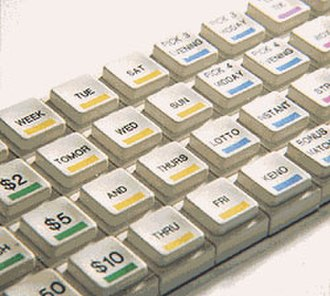 Pad printing - Example of pad printing on a keyboard.