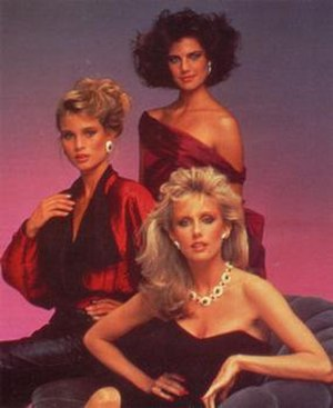 Paper Dolls - (Clockwise from top) Terry Farrell, Morgan Fairchild, and Nicollette Sheridan