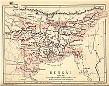 An map of Bengal in 1880