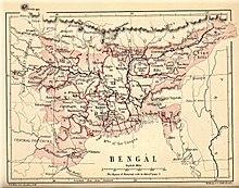 Карта Бенгалии 1880 года