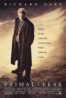 <i>Primal Fear</i> (film) 1996 film directed by Gregory Hoblit
