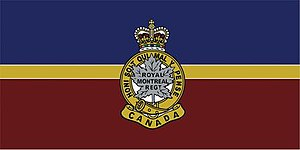 The Royal Montreal Regiment - The camp flag of The Royal Montreal Regiment.