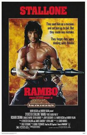Rambo: First Blood Part II - Theatrical release poster