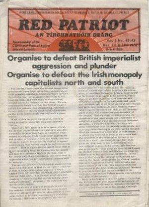 Communist Party of Ireland (Marxist–Leninist) - Red Patriot, CPI(ML) organ